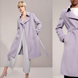 NWT Badgley Mischka Double Face Wool Blend Coat